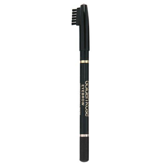 GOLDEN ROSE - Delineador de cejas con cepillo EYEBROW PENCIL 101 Negro