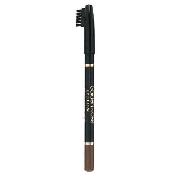 GOLDEN ROSE - Delineador de cejas con cepillo EYEBROW PENCIL 102 Marrón